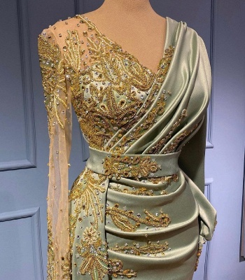 Elegant evening dresses with sleeves | Prom dresses long cheap_3
