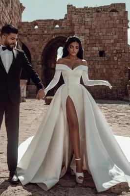 Satin Brautkleider A Linie | Hochzeitskleider Günstig Online