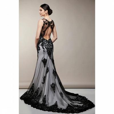 Black mermaid wedding dress | Wedding dresses with lace_2