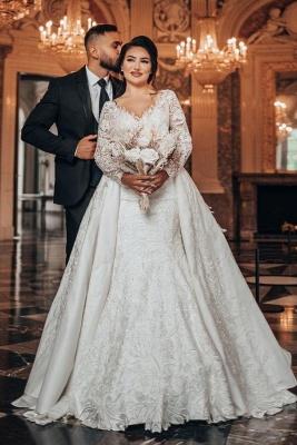 Luxus Brautkleider A Linie Spitze | Hochzeitskleider Mit Ärmel