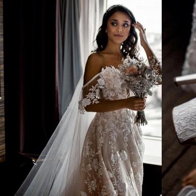 Hochzeitskleider A Linie Spitze | Brautkleider Günstig Kaufen_3