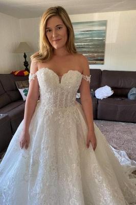 Brautkleider Prinzessin Glitzer |  Hochzeitskleider A Linie Spitze