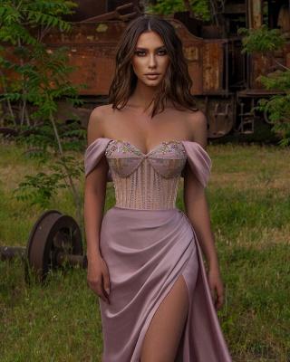 Elegant evening dress long pink   Prom Dresses Cheap Online_2