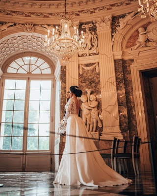 Luxury Wedding Dresses A Line Lace | Wedding dresses with sleeves_7