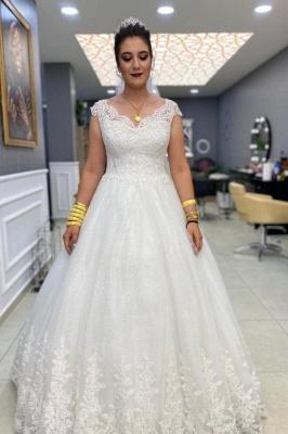 Schlichte Hochzeitskleider A Linie | Brautkleider mit Spitze