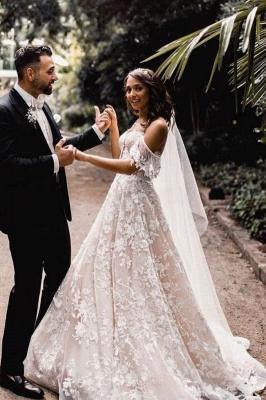 Hochzeitskleider A Linie Spitze | Brautkleider Günstig Kaufen