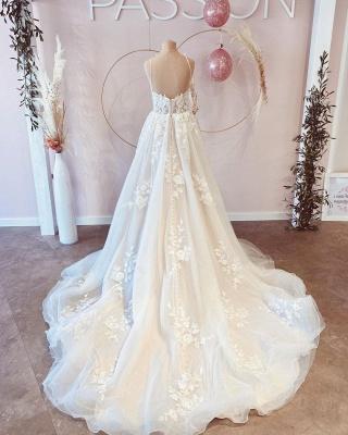 Designer wedding dresses with lace | Buy A Line Wedding Dresses_4