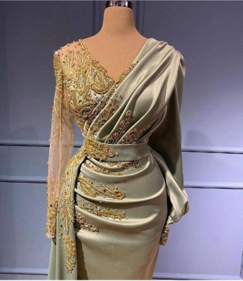 Elegant evening dresses with sleeves | Prom dresses long cheap_2