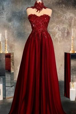 Rote Abendkleider Lang Glitzer | Abiballkleider Günstig