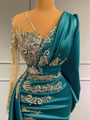 Türkische Abendkleider Lang Günstig | Abiballkleider mit Ärmel_2