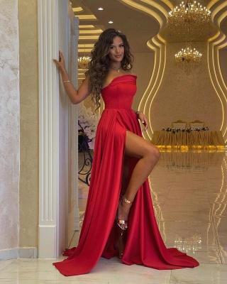 Schlichtes Abendkleid Lang Rot | Abendmoden Online_2