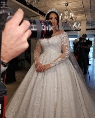 Brautkleider Große Größe   Hochzeitskleider Spitze Mit Ärmel_3