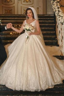 Luxus Hochzeitskleider Prinzessin Glitzer | Brautkleider Mit Spitze
