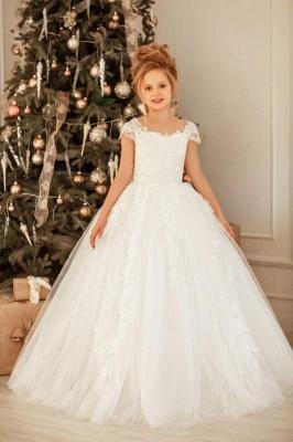 Schöne Blumenmädchenkleider mit Spitze | Kinder Hochzeitskleider