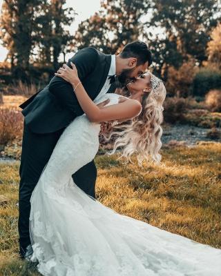 Schöne Brautkleider Meerjungfrau Stil | Hochzeitskleider mit Spitze_4