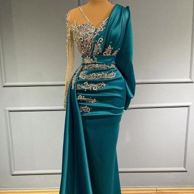 Türkische Abendkleider Lang Günstig | Abiballkleider mit Ärmel_3
