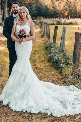 Schöne Brautkleider Meerjungfrau Stil | Hochzeitskleider mit Spitze