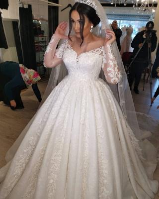 Brautkleider Große Größe   Hochzeitskleider Spitze Mit Ärmel_4