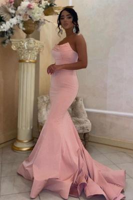 Elegante Abendkleider Lang Rosa | Schlichtes Abiballkleid
