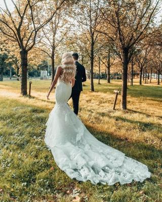 Schöne Brautkleider Meerjungfrau Stil | Hochzeitskleider mit Spitze_2