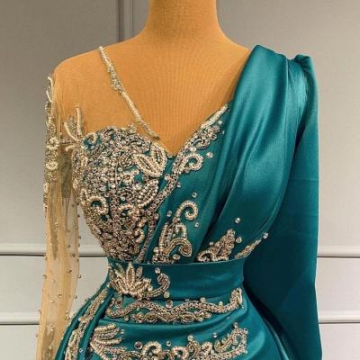 Türkische Abendkleider Lang Günstig | Abiballkleider mit Ärmel_4