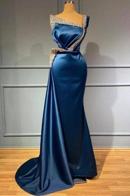 Blaues Abendkleid Lang Günstig | Abiballkleider mit Glitzer