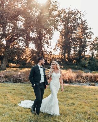 Schöne Brautkleider Meerjungfrau Stil | Hochzeitskleider mit Spitze_3
