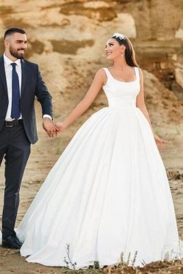 Schlichte Brautkleider Satin | Hochzeitskleider Prinzessin