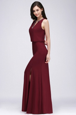 Weinrot Abendkleider | Abiballkleider Chiffon kleider_4