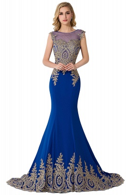King Blue Evening Dress Long Cheap | Evening wear online