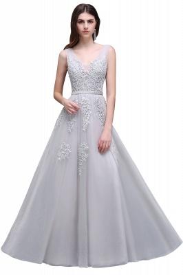 Elegant Evening Dresses Long V Neck | Prom dresses with lace_16