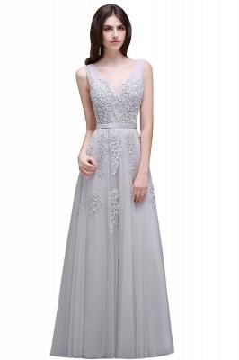 Elegant Evening Dresses Long V Neck | Prom dresses with lace_9