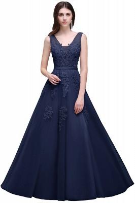 Elegant Evening Dresses Long V Neck | Prom dresses with lace_7