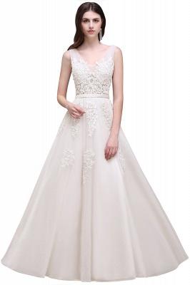 Elegant Evening Dresses Long V Neck | Prom dresses with lace_2