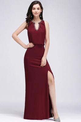 Weinrot Abendkleider | Abiballkleider Chiffon kleider_5
