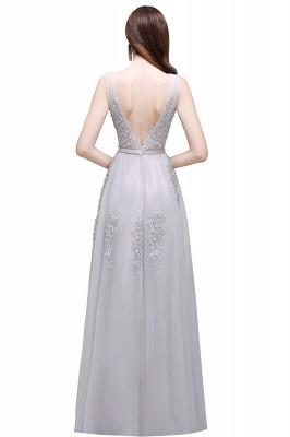 Elegant Evening Dresses Long V Neck | Prom dresses with lace_15