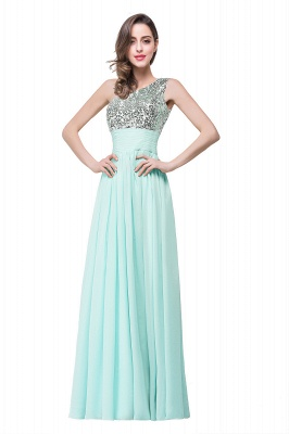 Evening dresses long glitter | Simple evening wear online_2