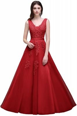 Elegant Evening Dresses Long V Neck | Prom dresses with lace_5