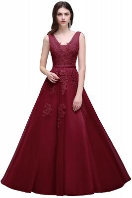 Elegant Evening Dresses Long V Neck | Prom dresses with lace_6