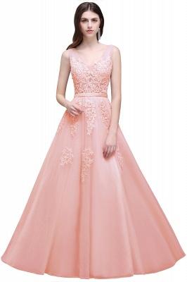 Elegant Evening Dresses Long V Neck | Prom dresses with lace_3