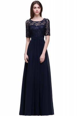 Simple evening dress long cheap | Prom dresses with lace_6