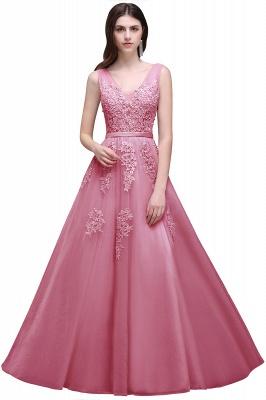 Elegant Evening Dresses Long V Neck | Prom dresses with lace_4