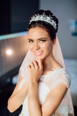 2021 Weiße Brautkleider Prinzessin V Auschnitt Organza Mit Spitze Brautmoden Online_3