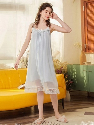 Nachtwäsche für Damen Chiffon | Einteiler Schlafanzug Mädchen_2