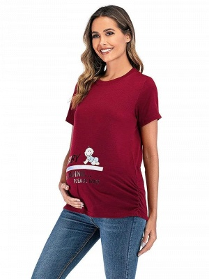 Red summer dresses for pregnant women | Clothes for pregnant women_3