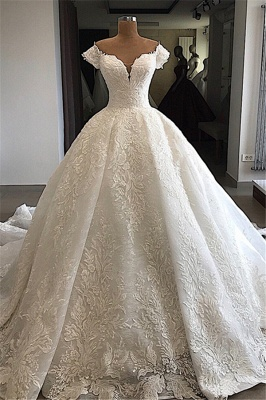 Elegant wedding dresses with lace | Wedding dresses a line online_1