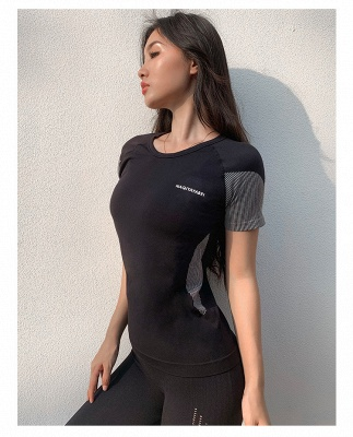 Hochwertige Yoga Kleidung Oberteil | Damen Kleider für Sports_2