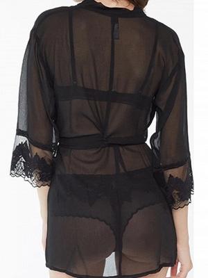 Black pajamas women short | Fine nightwear women_2