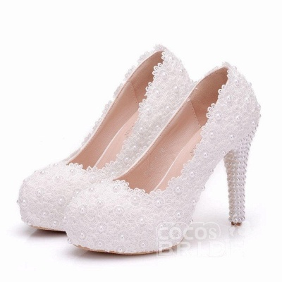 White wedge wedding shoes | Ivory wedding shoes cheap_7