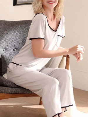 Terrycloth pajamas women | Maternity pajamas 2 pieces_3